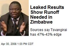 Leaked Results Show Runoff Needed in Zimbabwe