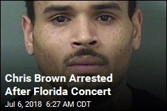 Chris Brown Walks Off Stage and Into Deputies' Hands
