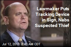 Lawmaker Puts Tracking Device in Sign, Nabs Suspected Thief