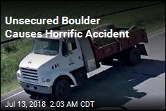 Unsecured Boulder Falls From Truck, Kills 2 Women