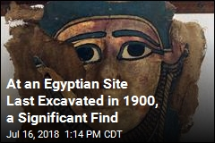 At an Egyptian Site Last Excavated in 1900, a Significant Find