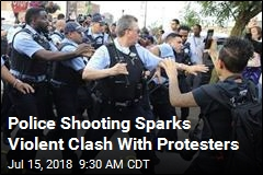 Cops Clash With Protesters After Police Shooting