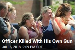 Officer Killed With His Own Gun