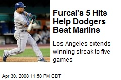 Furcal's 5 Hits Help Dodgers Beat Marlins