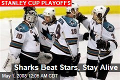 Sharks Beat Stars, Stay Alive
