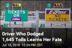 Driver Who Dodged 1,645 Tolls Learns Her Fate