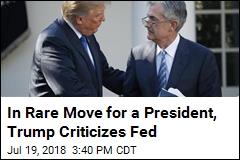 In Unusual Move for a President, Trump Criticizes Fed