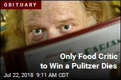 Only Food Critic to Win a Pulitzer Dies