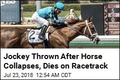 Jockey Injured After Horse's Sudden Death on Racetrack