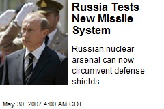 Russia Tests New Missile System
