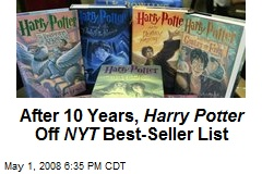 After 10 Years, Harry Potter Off NYT Best-Seller List