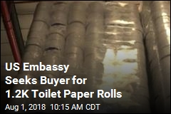US Embassy Seeks Buyer for 1.2K Toilet Paper Rolls