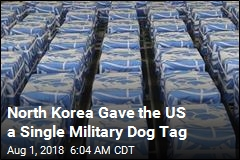N. Korea Gave Up 55 Boxes of Bones, but Just One Dog Tag