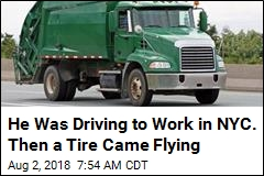 He Was Driving to Work in NYC. Then a Tire Came Flying