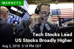 Tech Stocks Lead US Stocks Broadly Higher