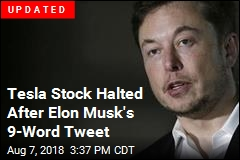 Tesla Stock Jumps After Elon Musk's 9-Word Tweet