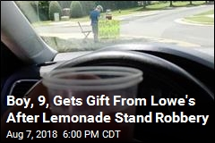 Boy, 9, Gets Gift From Lowe's After Lemonade Stand Robbery