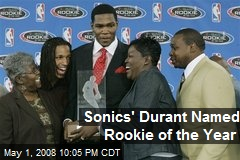 Sonics' Durant Named Rookie of the Year