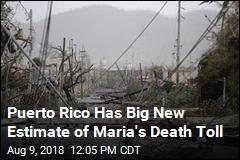 Puerto Rico Has Big New Estimate of Maria's Death Toll