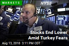 Stocks End Lower Amid Turkey Fears