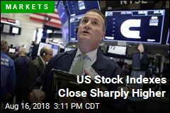 US Stock Indexes Close Sharply Higher