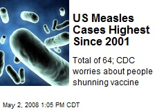 US Measles Cases Highest Since 2001
