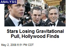 Stars Losing Gravitational Pull, Hollywood Finds