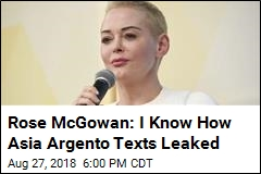 Rose McGowan: Asia Argento Leak Was From My Friend