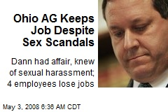 Ohio AG Keeps Job Despite Sex Scandals