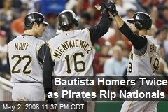 Bautista Homers Twice as Pirates Rip Nationals