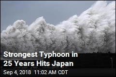 7 Dead as Powerful Typhoon Whomps Japan