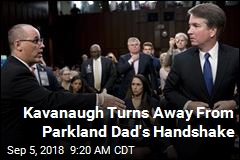 Kavanaugh Turns Away From Parkland Dad's Handshake