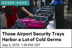 More Cold Germs on Airport Security Trays Than Toilets