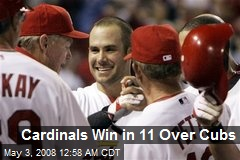 Cardinals Win in 11 Over Cubs