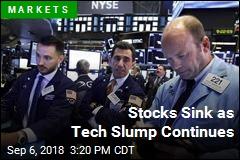 Stocks Sink as Tech Slump Continues