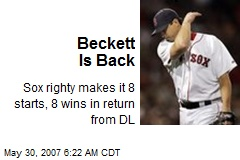 Beckett Is Back