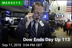Dow Ends Day Up 113