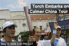 Torch Embarks on Calmer China Tour