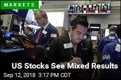 US Stocks See Mixed Results
