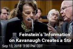 Feinstein's 'Information' on Kavanaugh Creates a Stir