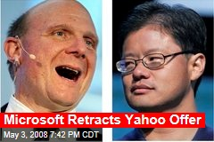 Microsoft Retracts Yahoo Offer