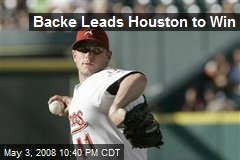 Backe Leads Houston to Win