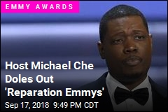 Host Michael Che Hands Out 'Reparation Emmys'