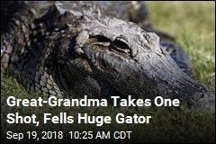 Great-Grandma Takes Down 12-Foot Gator
