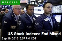 US Stock Indexes End Mixed