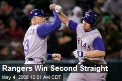 Rangers Win Second Straight