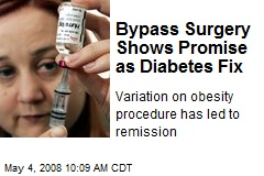 Bypass Surgery Shows Promise as Diabetes Fix