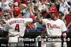 Phillies Edge Giants, 6-5