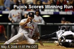 Pujols Scores Winning Run