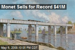 Monet Sells for Record $41M